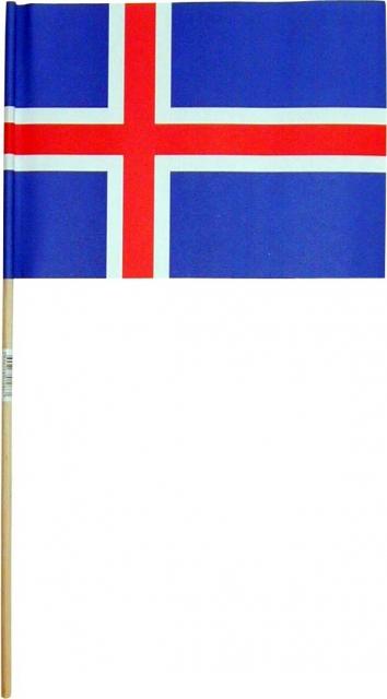 Íslenski fáninn - 16x22cm.  1 stk. image