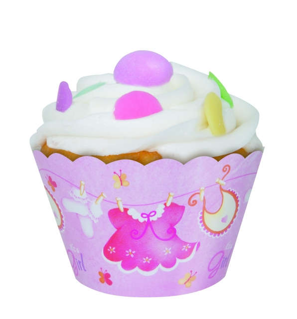 Kápa utan um muffinsmót - It´s a Girl 12 stk. image