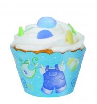 Kápa utan um muffinsmót - It´s a Boy 12 stk. image