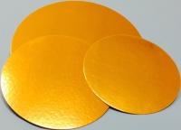 Kökuspjald - Gyllt kringlótt 22 cm image