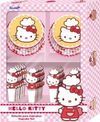 Muffinsmót og skrautpinnar - Hello Kitty í gjafaöskju image