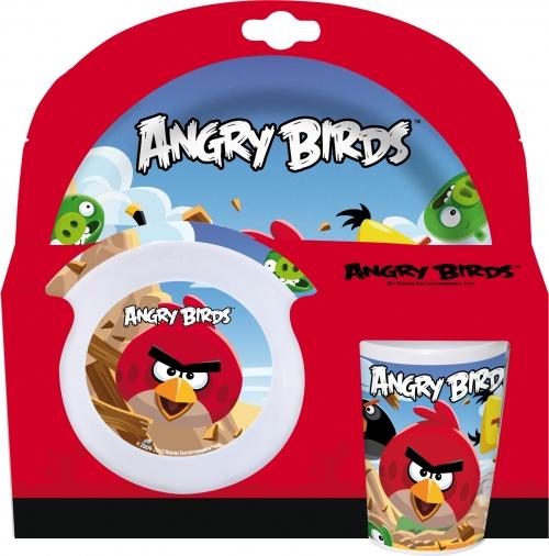 Melamin sett - diskur, skál og glas - Angry Birds