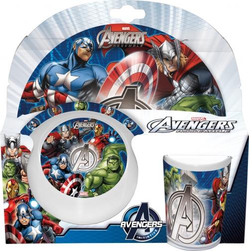 Melamin sett - diskur, skál og glas - Avengers