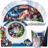 Melamin sett - diskur, skál og glas - Avengers image