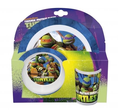 Melamin sett - diskur, skál og glas - Ninja Turtles
