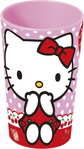 Glas úr þykku plasti 270ml. - Hello Kitty image
