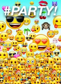 Boðskort - emoji-Broskarlar - 8stk með umslögum image