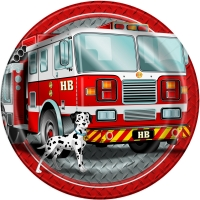 Pappadiskar 23cm - Fire Truck 8 stk image