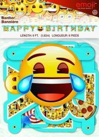 Banner lengja - emoji - 1,82m image