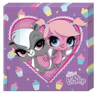 Servíettur - Pet Shop Cupcake - 33x33cm, 20stk. image