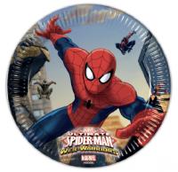 Pappadiskar - Ultimate Spiderman - 19,5cm, 8stk. image