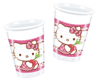 Plast glös - Hello Kitty Hearts - 200ml., 8stk. image