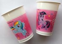 Plast glös - Little Pony - 200ml., 8stk. image