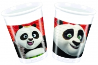 Plast glös - Kung Fu Panda - 200ml., 8stk. image