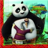 Servíettur - Kung Fu Panda - 33x33cm, 20stk. image