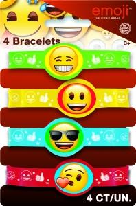 Armbönd - Gúmmí 4stk. - Emoji image
