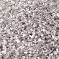 Kristalsykur - Metallic Silfur - 1kg. image
