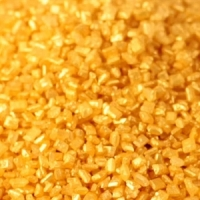 Kristalsykur - Metallic Gull - 1kg. image