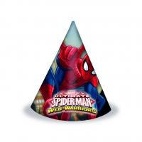 Afmælishattar - Spiderman - 6 stk image