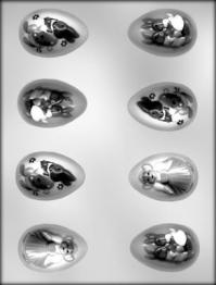Plastmót - Páskaegg með myndum 5,9 cm image