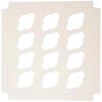 Kökukassi - 25x25x10 - Spjald fyrir 12 Bollakökur image