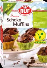 Vegan súkkulaðimuffins með dökkum súkkulaðibitum image