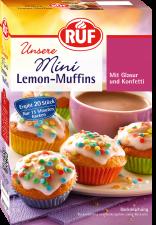 Mini Sítrónu-muffins með glassúr og skrauti image
