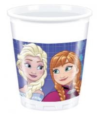 Plast glös - Frozen Snowflakes - 200ml., 8stk. image