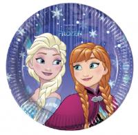 Pappadiskar - Frozen Snowflakes - 19,5cm, 8stk. image