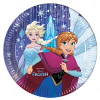 Pappadiskar - Frozen Snowflakes - 22cm, 8stk. image