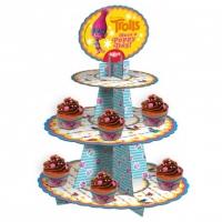 Cupcake standur - Trolls - 3 hæðir image