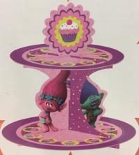 Cupcake standur - Trolls - 2 hæðir image