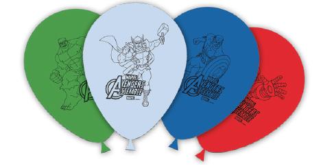 Blöðrur 25cm - Avengers 8 stk
