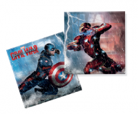 Servíettur - Captain America - 33x33cm, 20stk. image