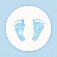 Servíettur - Ambiente - Baby Steps Boy 33x33cm 20 stk. image