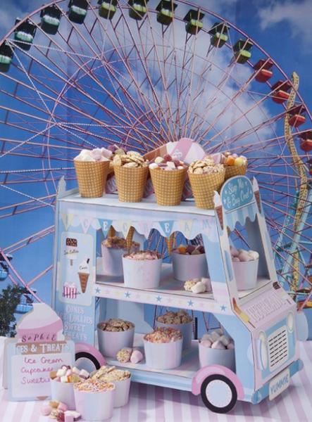 Cupcake standur - Ísbíll