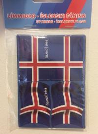 Íslenski fáninn - Límmiðar 2,88 x 4cm - 40stk image