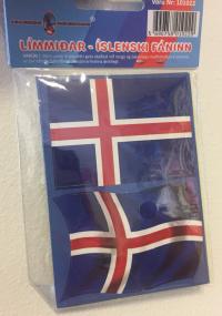 Íslenski fáninn - Límmiðar 6 x 4,3cm - 20stk image