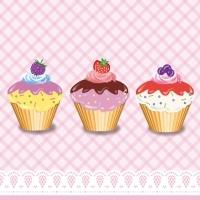 Servíettur - PPD - Party Cupcakes 33x33cm 20 stk. image