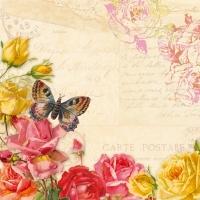 Servíettur - PPD - Vintage Butterflies 33x33cm 20 stk. image