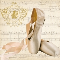 Servíettur - PPD - Concerto Ballet 33x33cm 20 stk. image