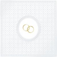 Servíettur - PPD - Medaillon Wedding Pearl 33x33cm 20 stk. image