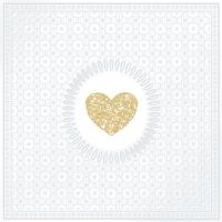 Servíettur - PPD - Medaillon Love Pearl 33x33cm 20 stk. image