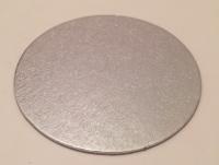 Stíft kökuspjald - Silfur kringlótt 7,5 cm image