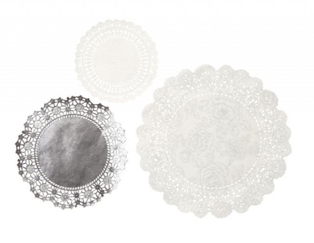 Kökublúndur - Party Porcelain Silver 24 stk image