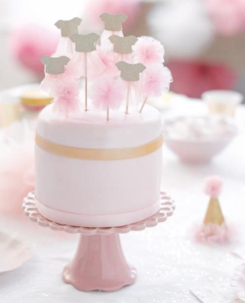 Ballerínuskraut á pinna - We ♥ Pink 6 stk.