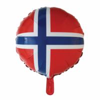 Álblaðra - Kringlótt 45cm - Norski fáninn image
