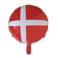 Álblaðra - Kringlótt 45cm - Danski fáninn image