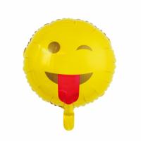 Álblaðra - Kringlótt 45cm - Emoji með tunguna úti image