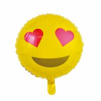 Álblaðra - Kringlótt 45cm - Emoji með hjörtum image